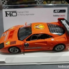 Slot Cars: FERRARI F40 JAGERMEISTER RACING MOTOR RX-41 DE FLY - HOBBYCLASSIC. Lote 222254301