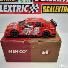 Slot Cars: SCALEXTRIC NINCO ALFA ROMEO 155 V6 TI REF 50104 (ROJO). Lote 222293405