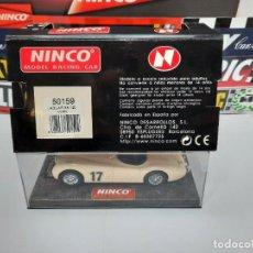 """Slot Cars: JAGUAR XK-120 """" MARFIL """" # 17 NINCO SCALEXTRIC. Lote 223743785"""