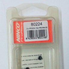 Slot Cars: NINCO JUEGO 2 PIÑONES EJE MOTOR REF. 80224 NUEVOS EN SU BLISTER. Lote 231237185