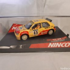 Slot Cars: COCHE SCALEXTRIC (NINCO) CITROEN SAXO JWRC RACC(REAL AUTOMOVIL CLUB CATALAN) D SOLA. Lote 232498045