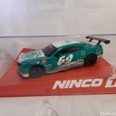 Slot Cars: NINCO(SCALEXTRIC) CHEVROLET CAMARO GREEN 69. Lote 232981945