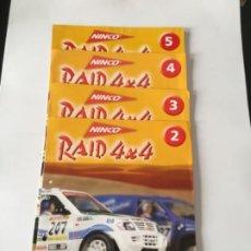 Slot Cars: LOTE 4 FASCÍCULOS NINCO RAID 4X4 SALVAT CON FICHA RINCÓN DEL COLECCIONISTA. Lote 236906565