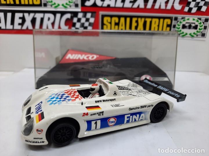 "Slot Cars: BMW LM V12 "" FINA "" #1 NINCO SCALEXTRIC !! - Foto 10 - 237349705"