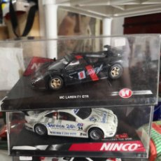 Slot Cars: LOTE 3 COCHES NINCO, 2 MCLAREN F1 GTR, MERCEDES CLK SERVICE 24H. Lote 237400240