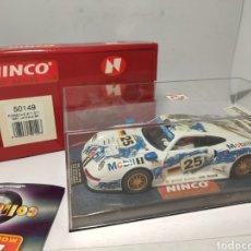 Slot Cars: NINCO PORSCHE 911 GT1 24H. LE MANS 96 REF. 50149. Lote 241322330