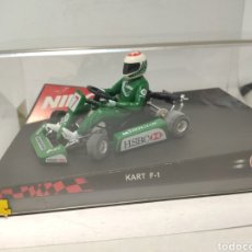 Slot Cars: NINCO KART F1 SERIES GREEN REF. 50225. Lote 241470205