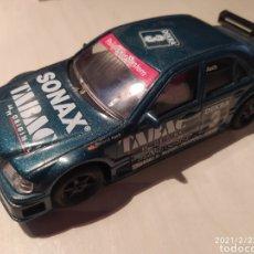 Slot Cars: MERCEDES C-KLASSE NINCO VERDE SONAX TABAC REF. 50106 NO SCALEXTRIC EXIN MUY COMPETITIVO PISTA LARGA. Lote 243329645