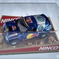 Slot Cars: NINCO RAID OFF ROAD, VW TOUAREG ,4X4, AMORTIGUACIÓN Y GUIA BASCULANTE NUEVO.VÁLIDO ,SCALEXTRIC. Lote 247784365