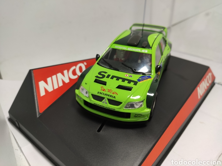 Slot Cars: NINCO MITSUBISHI LANCER SIMM REF. 50436 FIRMADO POR PILOTO ORRIOLS - Foto 4 - 253700740