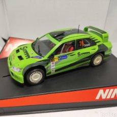 Slot Cars: NINCO MITSUBISHI LANCER SIMM REF. 50436 FIRMADO POR PILOTO ORRIOLS. Lote 253700740