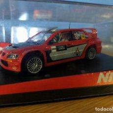 Slot Cars: ANTIGUO COCHE RALLY SLOT SCALEXTRIC NINCO SCX MITSUBISHI LANCER WRC - SHOWCAR 2005. Lote 263282260