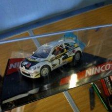 Slot Cars: ANTIGUO COCHE RALLY SLOT RENAULT CLIO S1600 ELF - NINCO - SCALEXTRIC SCX. Lote 263537200