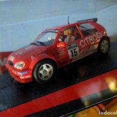 Slot Cars: ANTIGUO COCHE DE RALLY SLOT NINCO CITROËN SAXO VTS - SCALEXTRIC SCX. Lote 263541185