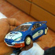 Slot Cars: ANTIGUO COCHE RALLY SLOT MODIFICADO PEUGEOT 307 CC WRC OMV - NINCO SCALEXTRIC SCX. Lote 263548375