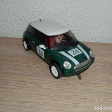 Slot Cars: COCHE SCALEXTRIC DE NINCO MINI COOPER VERDE. Lote 266900204