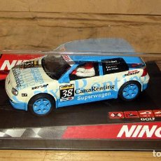 Slot Cars: SCALEXTRIC NINCO - VOLKSWAGEN GOLF CAIXARENTING - 50244 - NUEVO A ESTRENAR. Lote 274167278