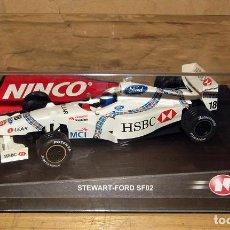 Slot Cars: SCALEXTRIC NINCO - STEWART FORD Nº18 F1 - 50185 - NUEVO A ESTRENAR. Lote 274167393