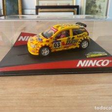 """Slot Cars: COCHE CARRERAS NINCO """"FIAT PUNTO CATALUNYA COSTA BRAVA 2003"""". Lote 275228858"""