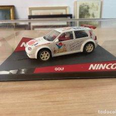 """Slot Cars: COCHE CARRERAS NINCO """"VW GOLF 38 FESTIVAL DE LA INFANCIA"""". Lote 275259678"""
