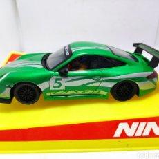 Slot Cars: NINCO PORSCHE 997 GT3 CUP DIGITAL VERDE. Lote 289688608