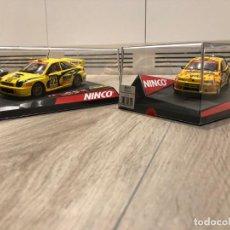 Slot Cars: VENDO 2 COCHES NINCO- SERIE RALLY CATALUNYA-COSTA BRAVA 2002 - 2003. Lote 292260613