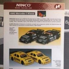 Slot Cars: FOLLETO ORIGINAL NINCO. AMG MERCEDES C-KLASSE - HOJA INFORMATIVA / FICHA TECNICA. Lote 292788898