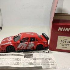 Slot Cars: NINCO ALFA ROMEO 155 V6 TI ROJO REF. 50104. Lote 294948158