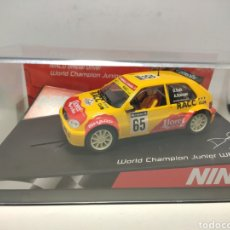 Slot Cars: NINCO CITROEN SAXO WORLD CHAMPION LTD. ED. REF. 50292. Lote 295525183