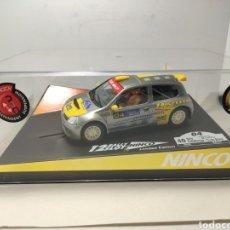 Slot Cars: NINCO RENAULT CLIO CATALUNYA COSTA BRAVA 2004 REF. 50353. Lote 295724618