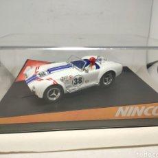Slot Cars: NINCO AC COBRA WHITE RACING REF. 50352. Lote 295852103