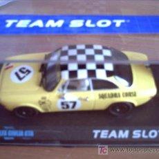 Slot Cars: 11103 - ALFA ROMEO GIULIA AMARILLO AQUADRA CORSE DESCATALOGADO DE TEAM SLOT. Lote 161941469