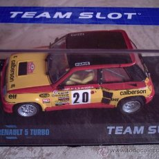 Slot Cars: OFERTON - RENAULT 5 TURBO CALBERSON DE TEAM SLOT. Lote 113218000