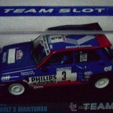Slot Cars: MUY BUSCADO - RENAULT 5 MAXITURBO PHILLIPS DE TEAM SLOT. Lote 115045476
