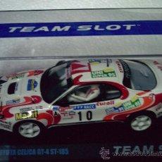Slot Cars: OFERTA - TOYOTA CELICA GT-4 RALLY CATALUNYA 94 DE TEAM SLOT. Lote 144220965