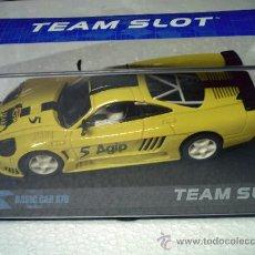 Slot Cars: SALEEN AMARILLO AGIP DE TEAM SLOT. Lote 191252206