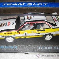 Slot Cars: BLACK FRIDAY - AUDI QUATTRO A2 MONTECARLO 84 DE TEAM SLOT. Lote 225011568