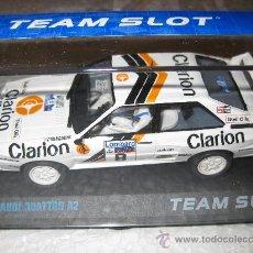 Slot Cars: AUDI QUATTRO A2 CLARION DE TEAM SLOT. Lote 184877327
