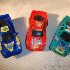 Slot Cars: 3 COCHES DE PÌSTAS, EN PLASTICO. Lote 29032499