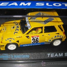 Slot Cars: RENAULT 5 MAXITURBO CAMEL DE TEAM SLOT. Lote 107435144