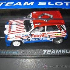 Slot Cars: NOVEDAD - RENAULT 5 MAXITURBO FOUYA DE TEAM SLOT. Lote 141451648