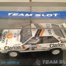 Slot Cars: CCCSLOT - VENDE AUDI QUATTRO A2 CLARION DEL PILOTO PER ERKLUND DE TEAM SLOT NUEVO EN CAJA. Lote 33751514