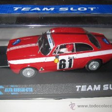 Slot Cars: 11102 - ALFA ROMEO GIULIA GTA ROJO ALPES 66 DESCATALOGADO DE TEAM SLOT. Lote 55050032