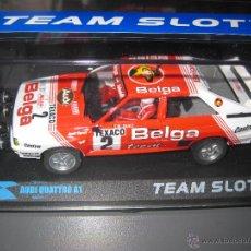 Slot Cars: OFERTA - 12303 - AUDI QUATTRO A1 TEAM BELGA DE TEAM SLOT. Lote 114572868