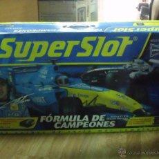 Slot Cars: PISTA SUPERSLOT - FORMULA DE CAMPEONES H1179. RECORRIDO 6,76 M. Lote 44252737