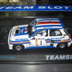 Slot Cars: NOVEDAD - RENAULT 5 TURBO ROTHMANS DE TEAM SLOT. Lote 109820171