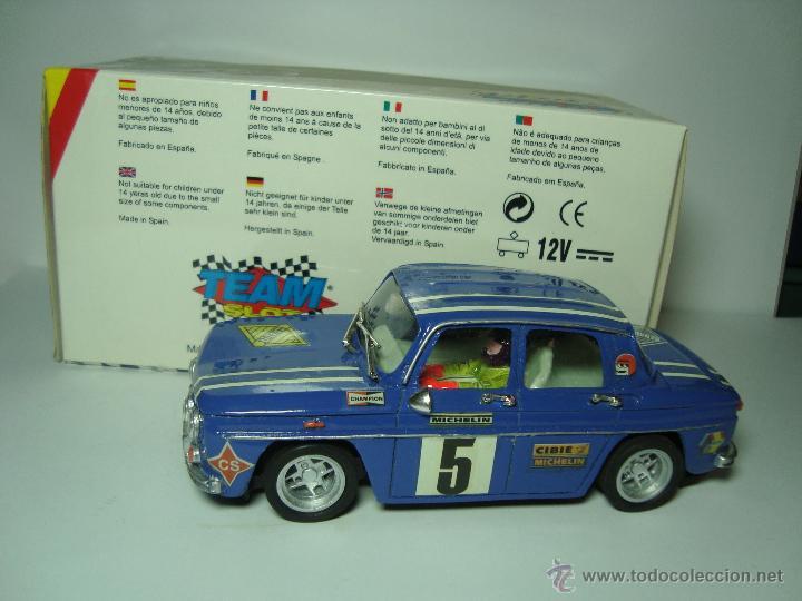 RENAULT 8 COPA TS DE TEAM SLOT 1,32 SCALEXTRIC UNICO CAJA CARTON ORIGINAL (Juguetes - Slot Cars - Team Slot)
