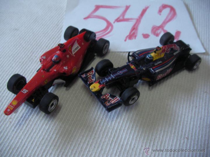 LOTE DE DOS COCHES CARRERA 1:43 FERRARI Y RED BULL (Juguetes - Slot Cars - Team Slot)