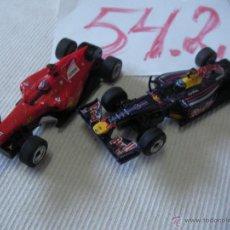 Slot Cars: LOTE DE DOS COCHES CARRERA 1:43 FERRARI Y RED BULL. Lote 53556933