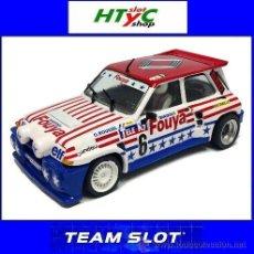 Slot Cars: TEAM SLOT RENAULT 5 MAXITURBO #6 FUOYA GERARD ROUSSEL RALLY-CROSS 1987 12107. Lote 54800825